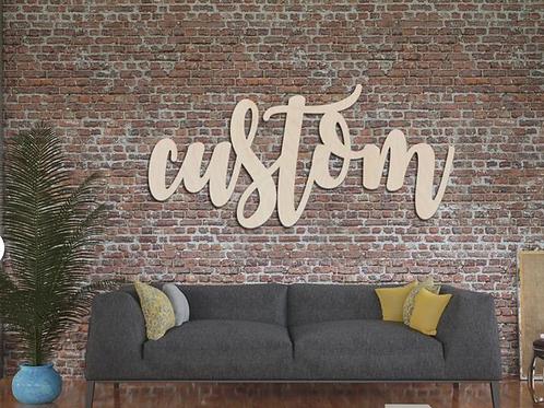 Custom Wood Signage