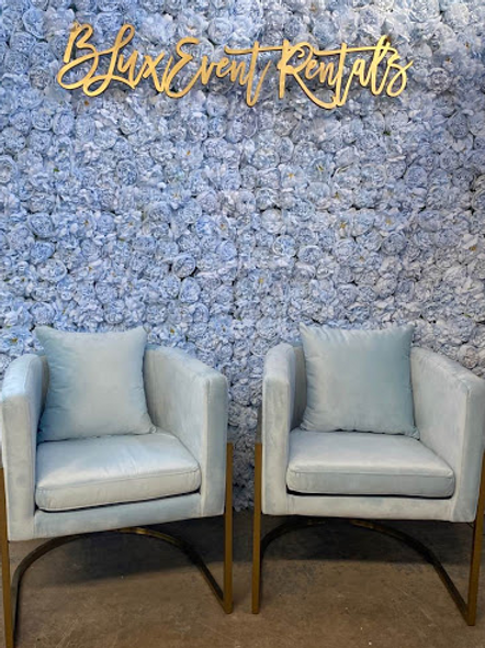 Tru Blu Velvet Armchairs