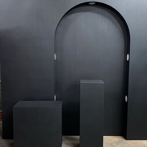 Black Arch Wall & Pedestal Package