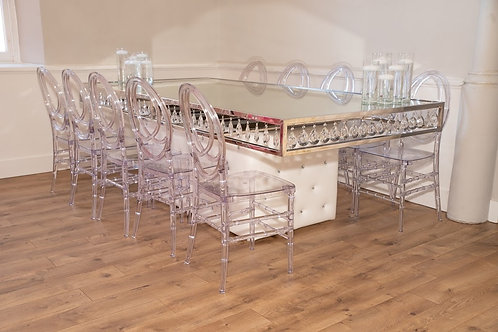 Crystal Rain Tables (Silver/Gold)