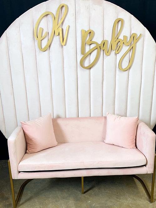 Kaylee Velvet Two Seater Sofa