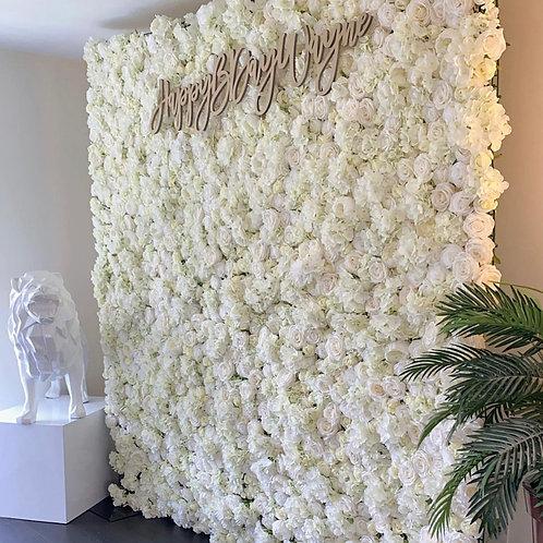 White Dove Flower Wall