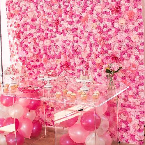 Parisian Pink Flower Wall