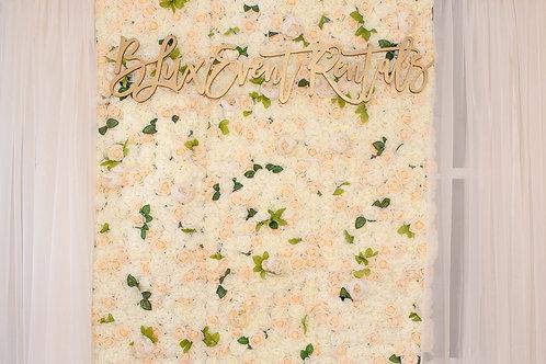 Crème de la Crème Flower Wall