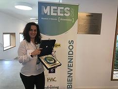 Isabel Murga tras recibir el premio MEES