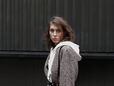 "Жакет из шерсти oversize коричневый ""в шашечку"" | Интернет-магазин Am'Werkstatt"