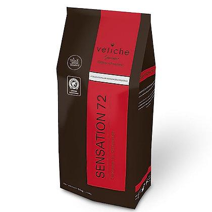 Шоколад горький Sensation 72% Veliche 500 г
