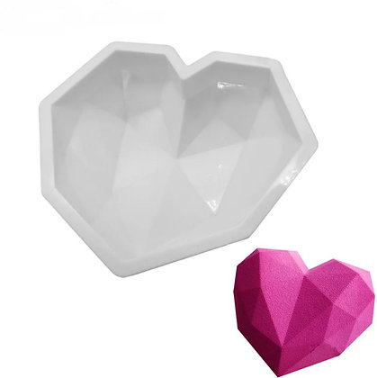 Силиконовая форма Сердце Кристалл