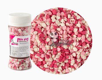 Сахарный Декор Сердечки Розовые 50гр