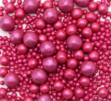 Сахарный декор жемчуг Розовый 50 гр