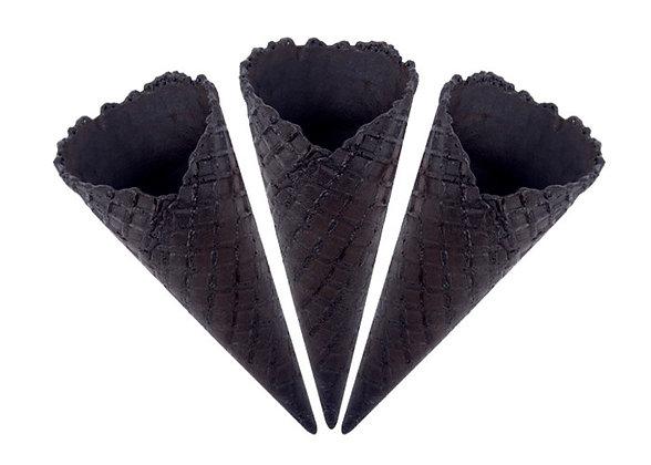 Вафельный рожок черный 1шт