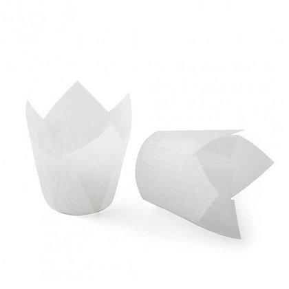 Форма бумажная Тюльпан 5х8см белые10шт