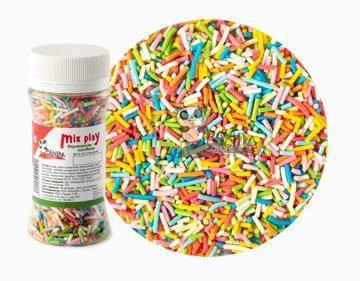 Сахарный Декор Вермишелька Разноцветная 50гр