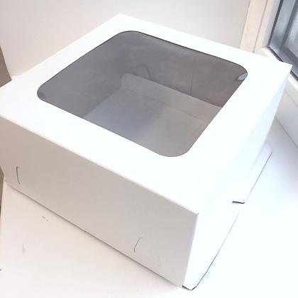 Коробка для муссового торта с окном 22х22х11см