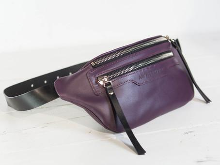 Поясная кожаная сумка в топе | Интернет-магазин Am'Werkstatt