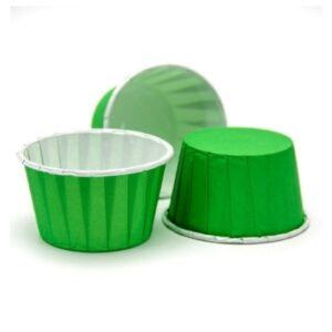 Капсула для маффинов 5х4см зеленые 10шт