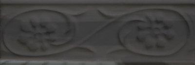 Бордюр настенный Cevica METRO Petalos Negro Brillo 50*150
