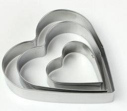 Формы для выпечки Сердце 5шт