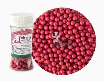 Сахарный Декор Розовые шарики 5мм 50гр