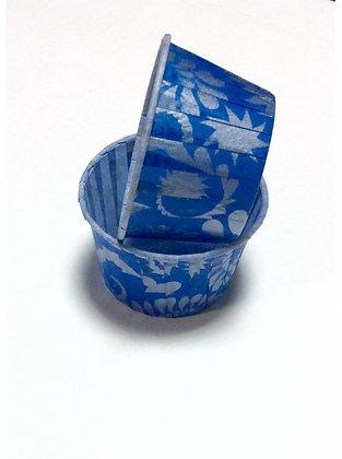 Капсула для маффинов 5х4см синие 10шт