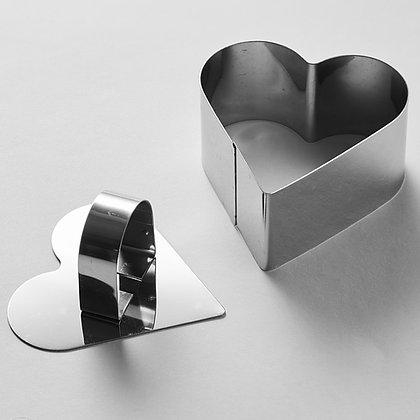 Форма с прессом Сердце 5см