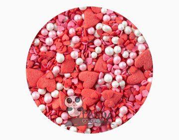Сахарный Декор Звездочки Красный Микс 50гр