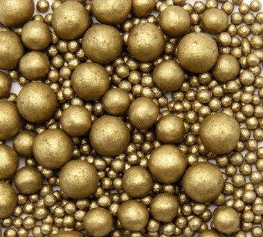 Сахарный декор жемчуг Золото 50 гр