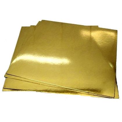 Подложка золото квадрат 18х18см 0.8 мм