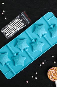 Форма для леденцов Звезды 6 ячеек