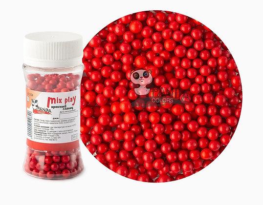 Сахарный Декор Красные шарики 5мм 50гр