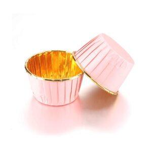 Капсула для маффинов 5х4см белые золото 10шт