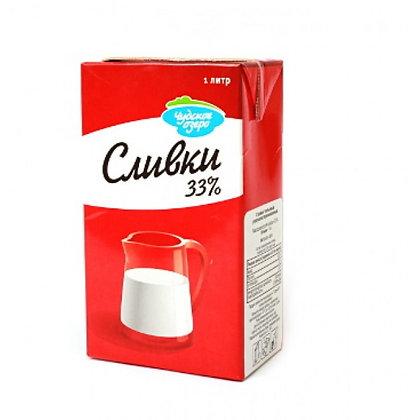 Сливки для крем-чиза 33% 1л