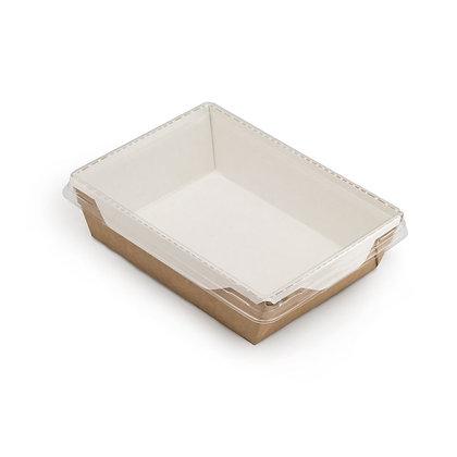 Коробка для десертов с прозрачной крышкой