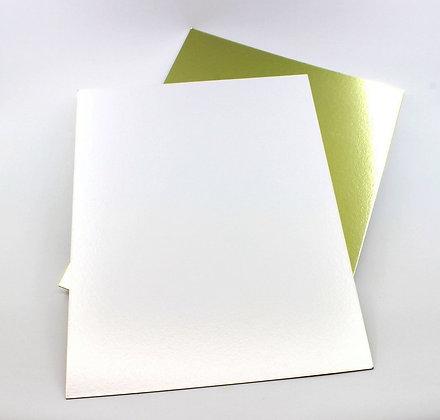 Прямоугольная подложка золото/серебро 30х40см 1,5мм