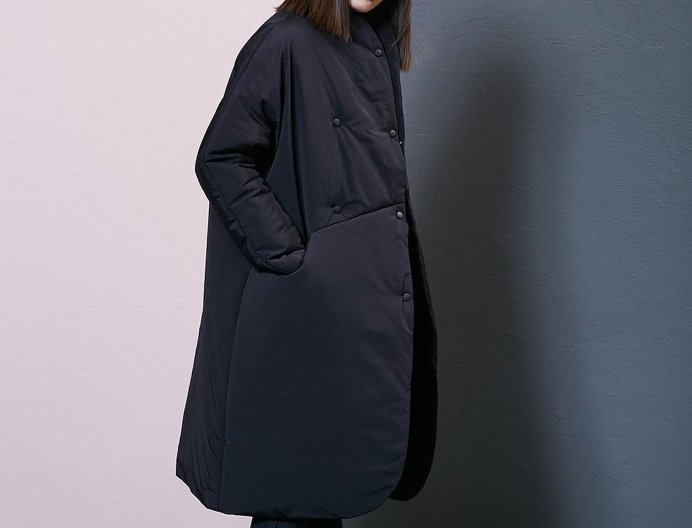 Пальто пуховик черное