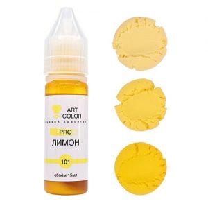 Гелевый краситель Желтый Лимон Art Color 15г