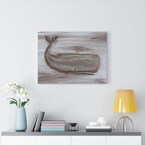 Vintage Sperm Whale Original Art Print Canvas Gallery Wrap