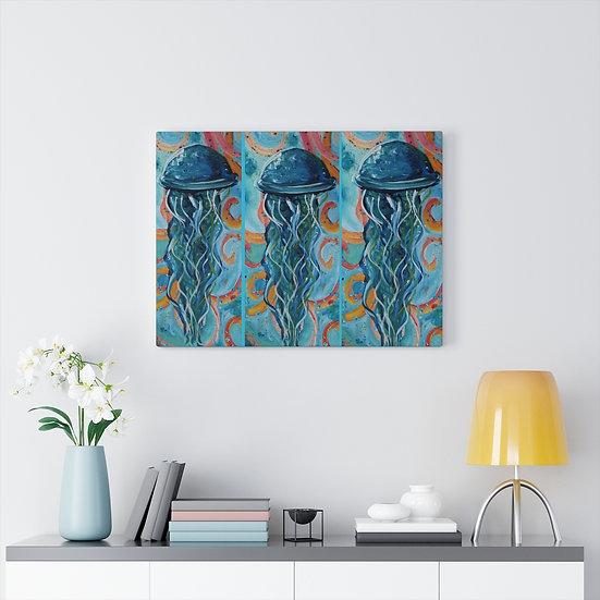 Dancing Jellies Original Art Print Canvas Gallery Wrap