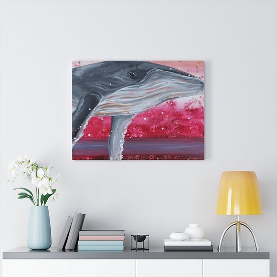 Song of the Humpback Original Art Print Canvas Gallery Wrap