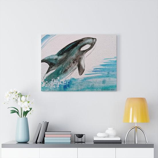 Leaping Orca Original Art Print Canvas Gallery Wrap