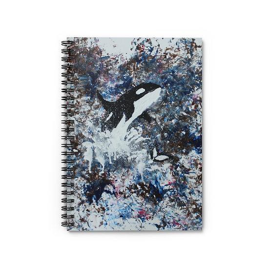 Celebrating Orcas Spiral Notebook - Ruled Line