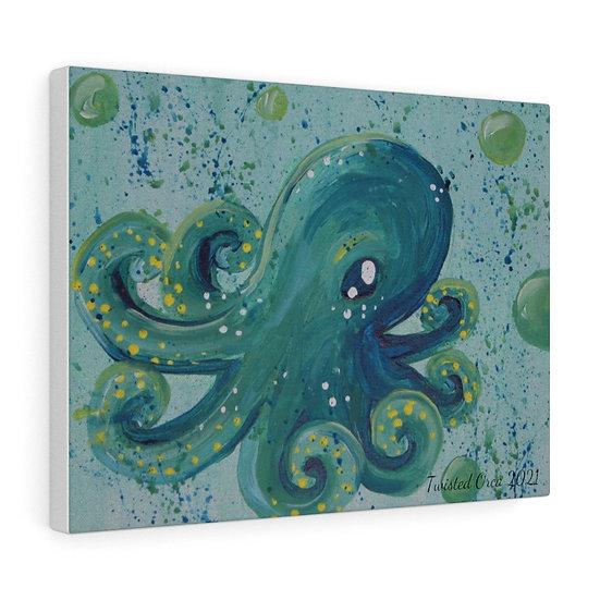 Baby Octopus Original Art Print Canvas Gallery Wrap