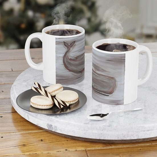 Original Art Sperm Whale Coffee Mug
