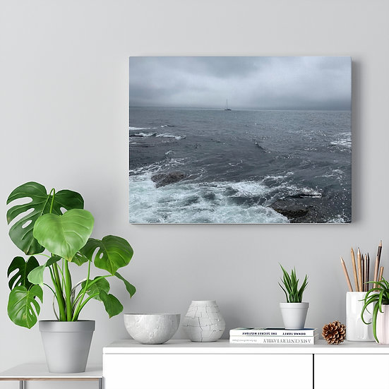 Lonely Ship Original Photo Art Canvas Gallery Wrap