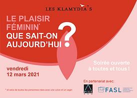 Flyer programme Plaisir feminin que sait-on aujourd'hui - les klamydias
