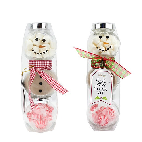 (12) Snowman Jar Cocoa Set
