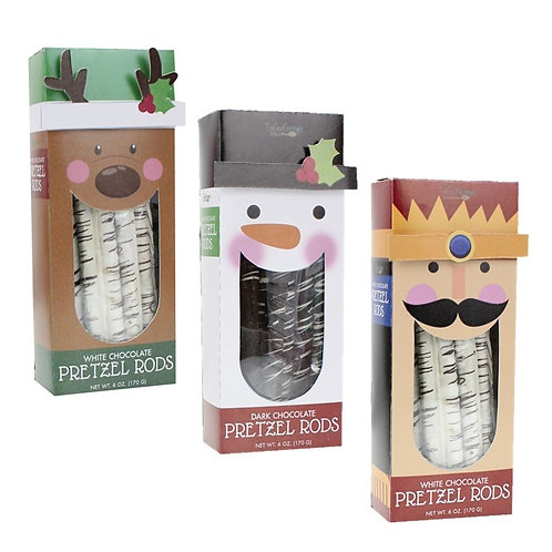 (12) Holiday Pretzel Rods