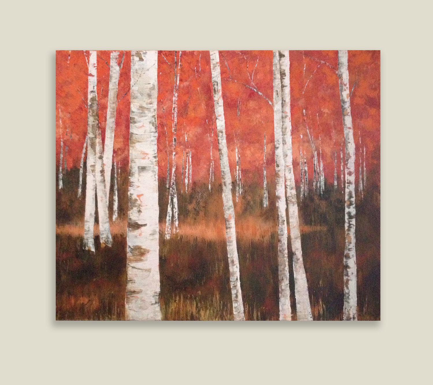 Red Birches
