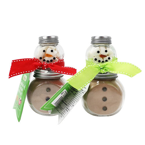 Mini Snowman Jar Cocoa Set
