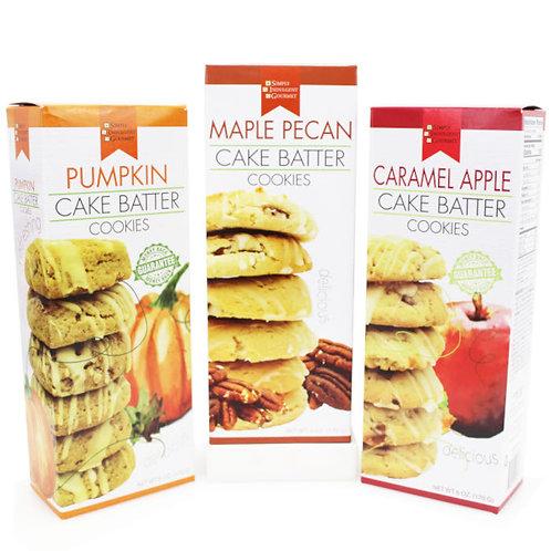 Fall Cake Batter Cookies